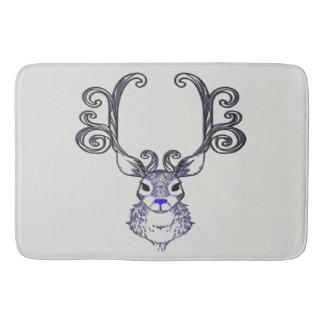 Bluenoser Blue nose Reindeer deer Bathroom mat