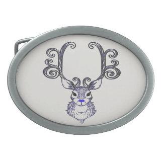 Bluenoser Blue nose Reindeer deer belt buckle