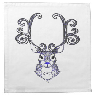 Bluenoser Blue nose Reindeer deer cloth napkin