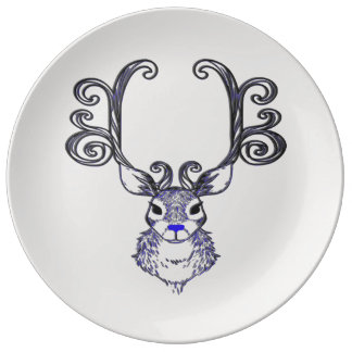 Bluenoser Blue nose Reindeer deer decor plate