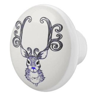 Bluenoser Blue nose Reindeer deer   drawer pull