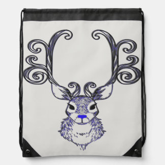 Bluenoser Blue nose Reindeer deer drawstring bag