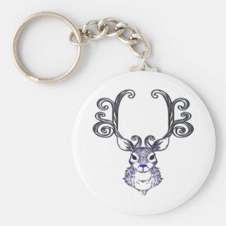Bluenoser Blue nose Reindeer deer  key chain