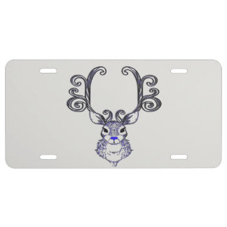 Bluenoser Blue nose Reindeer deer license plate