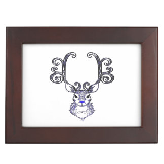 Bluenoser Blue nose Reindeer  deer memory picture Keepsake Box