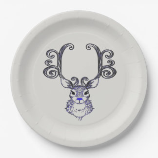 Bluenoser Blue nose Reindeer deer paper plate