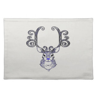 Bluenoser Blue nose Reindeer deer place mat