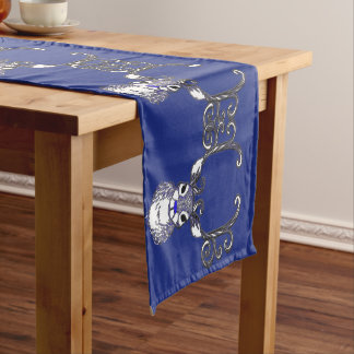 Bluenoser Blue nose Reindeer deer table runner