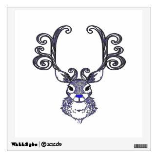 Bluenoser N.S. Blue  Reindeer deer wall decal