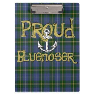 Bluenoser Nova Scotia anchor clip board tartan