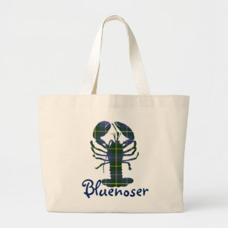 Bluenoser Nova Scotia tartan lobster tote bag