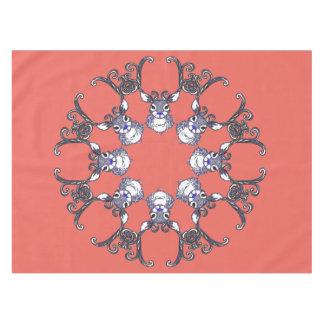 Bluenoser Reindeer deer snowflake tablecloth peach