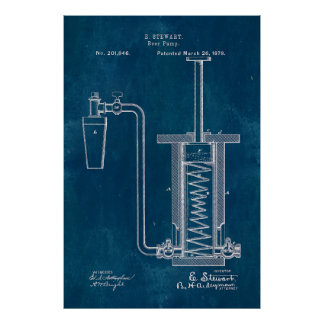 Blueprint Beer Pump Poster