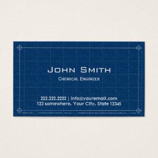 Blueprint Chemical Engineer Business Card
