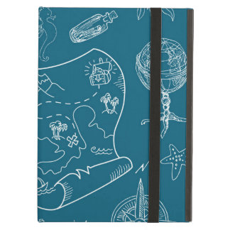 Blueprint Nautical Graphic Pattern Cover For iPad Air