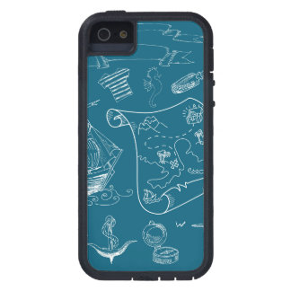 Blueprint Nautical Graphic Pattern iPhone 5 Case