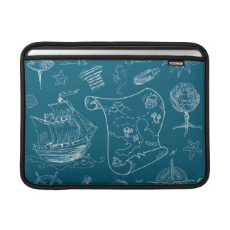 Blueprint Nautical Graphic Pattern Sleeve For MacBook Air