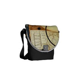 Blueprint of Gear Courier Bag