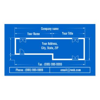 blueprint pack of standard business cards