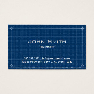 Blueprint Pharmacist Business Card