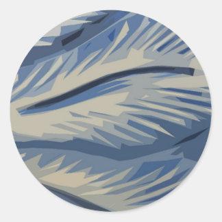 Blues Abstrat Classic Round Sticker
