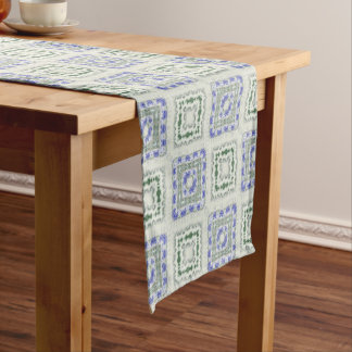 Blues and Greys Short Table Runner