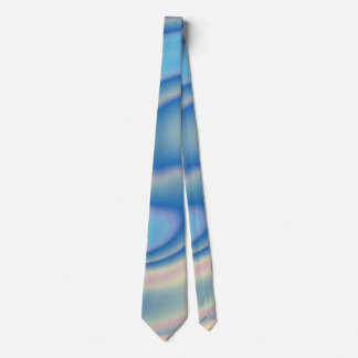 Blues and Pink Swirling Design Neck Tie