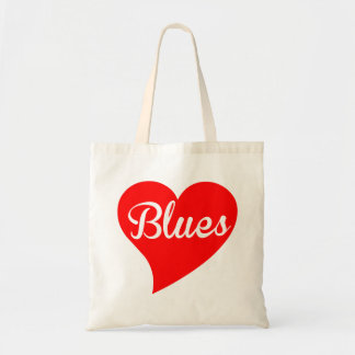 Blues Big Heart Tote Bag