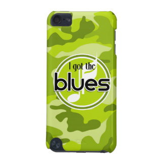Blues bright green camo camouflage iPod touch (5th generation) cases