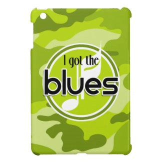 Blues bright green camo camouflage iPad mini cases