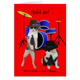 Blues Brothers Cats Card