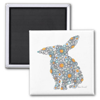 Blues Bunny Magnet