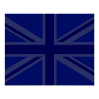 Blues for a Union Jack British Flag Poster