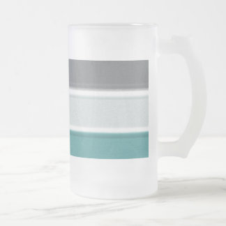 Blues Frosted Glass Beer Mug