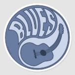 Blues Guitar Yin Sticker Sticker