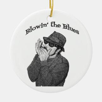 Blues Harp Christmas Ornament
