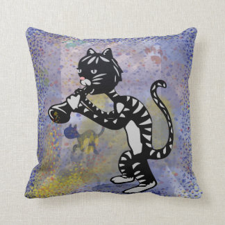 Blues in the Night Jazz Kitty Pillow