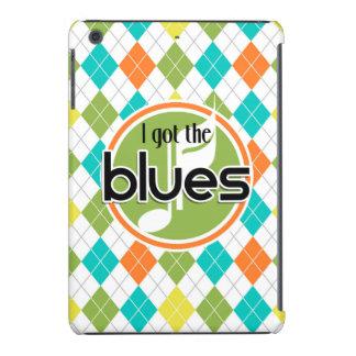 Blues Music; Colorful Argyle Pattern iPad Mini Retina Covers