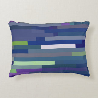 Blues Palette Color Bricks Pattern Decorative Pillow