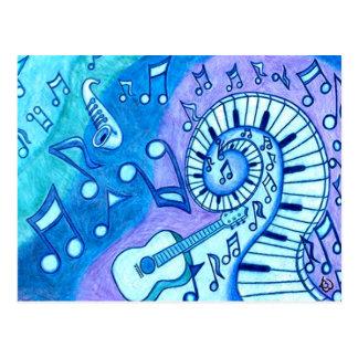 Blues Postcard