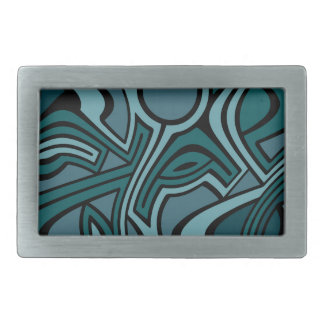 Blues Rectangular Belt Buckles