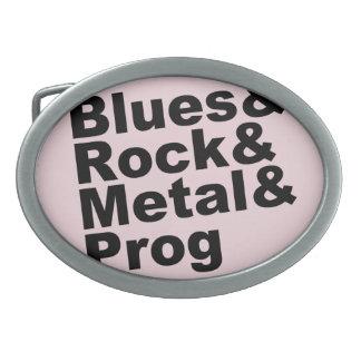 Blues&Rock&Metal&Prog (blk) Belt Buckle