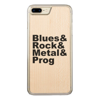 Blues&Rock&Metal&Prog (blk) Carved iPhone 8 Plus/7 Plus Case