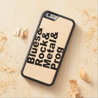 Blues&Rock&Metal&Prog (blk) Carved Maple iPhone 6 Bumper Case