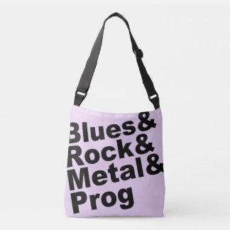 Blues&Rock&Metal&Prog (blk) Crossbody Bag