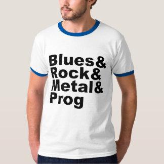 Blues&Rock&Metal&Prog (blk) T-Shirt