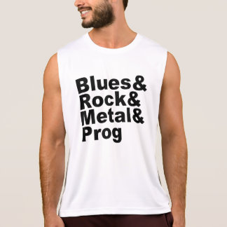 Blues&Rock&Metal&Prog (blk) Tank Top