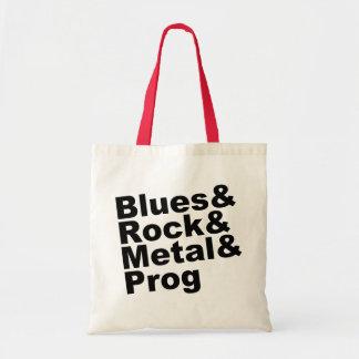 Blues&Rock&Metal&Prog (blk) Tote Bag