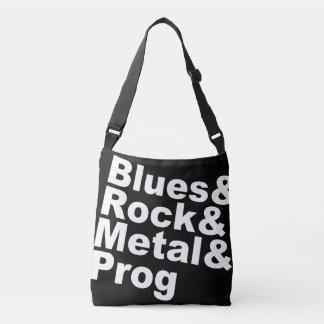 Blues&Rock&Metal&Prog (wht) Crossbody Bag