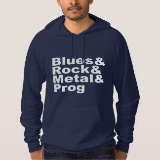 Blues&Rock&Metal&Prog (wht) Hoodie